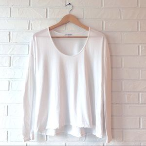 James Perse boxy round neck long sleeve t shirt
